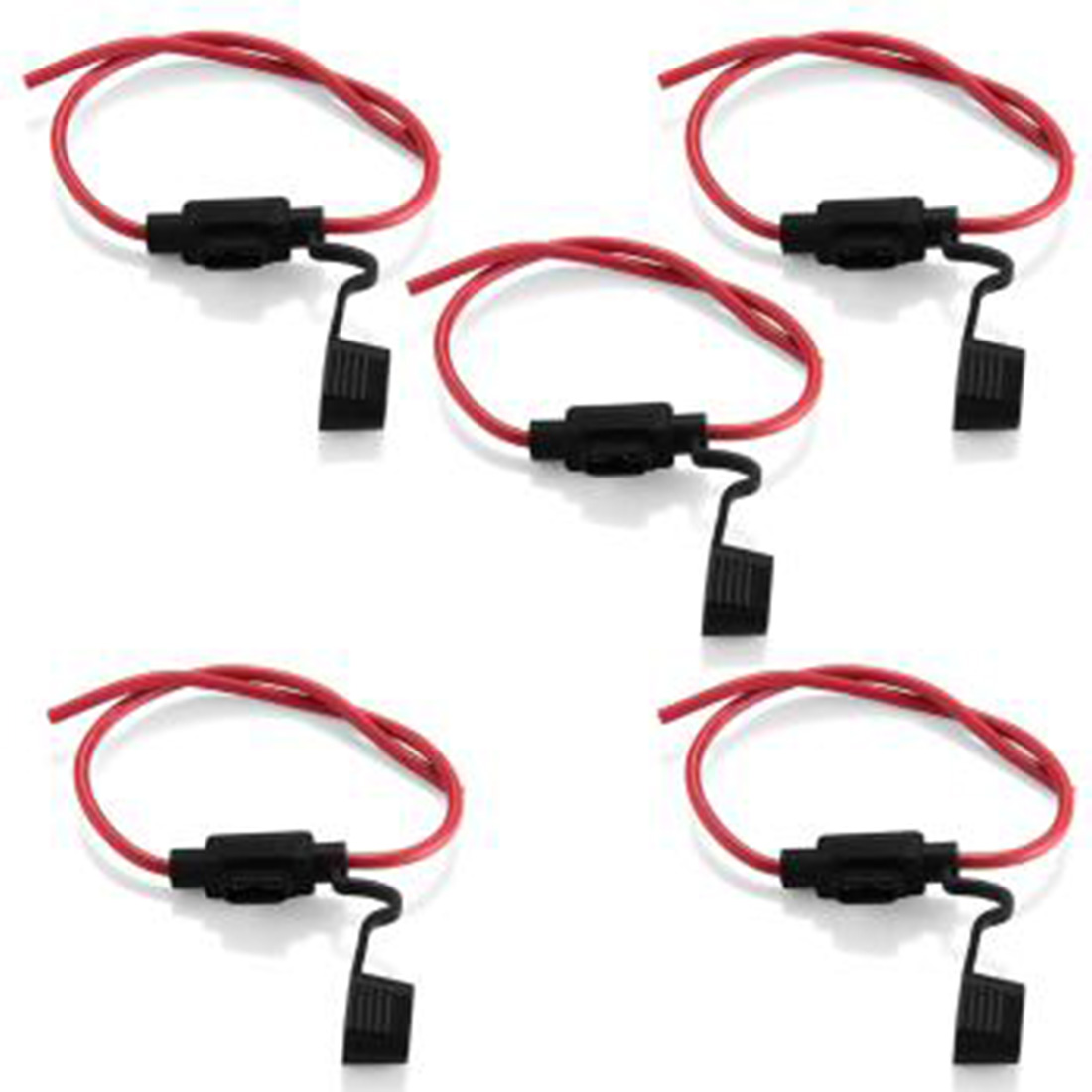 Marsnaska Good 5pcs Waterproof Power Socket Mini Blade Type In Line Ducati Hypermotard Fuse Box Wire Lengthabout 13 14cm The Length Of Both Sides Overall 34cm Wireno14 Package Includes 5 X Holder
