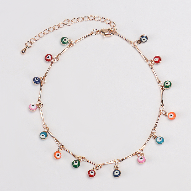 Chain & Link Bracelets Many Colors Small Shamsa Hand Evil Eye Charm Gold Bead Bracelet Diy Bracelet