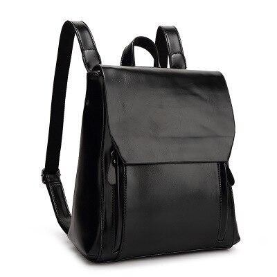new England Style Woman Backpacks PU Leather Vintage Back Packs Girl Fresh Shoulder Bag Lady Retro