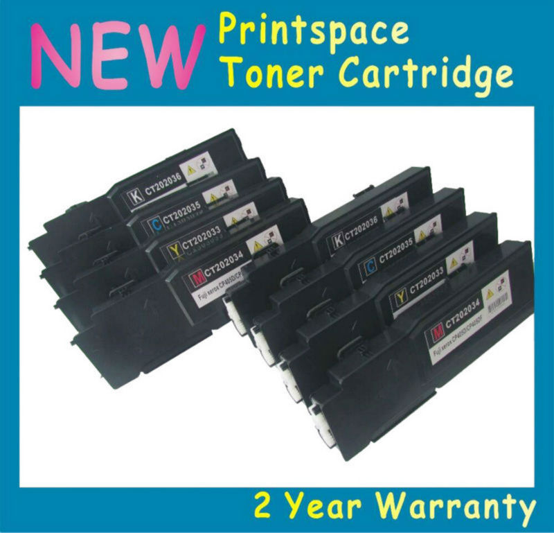 8x NON-OEM High Yield Toner Cartridges Compatible For Fuji Xerox Phaser 6600 6600n 6600dn Workcentre 6605 6605n KCMY 5x non oem toner refill kit chips compatible for fuji xerox phaser 6115 6115mfp 6120 6120n 2bk cmy