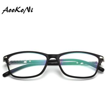 TR90 ramki okularów jasne krótkowzroczność marki optyczne kwadratowe krótkowzroczność dizajnerskie okulary ramki okularów fausse luneta de vue femme tanie i dobre opinie FRAMES Okulary akcesoria AK2893 Unisex AooKoNi Plastikowe tytanu Stałe 54-17-142mm