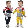 Anlencool Envío Libre del resorte de los niños Winnie the dos traje de color Personalizado traje ropa de bebé ropa del bebé