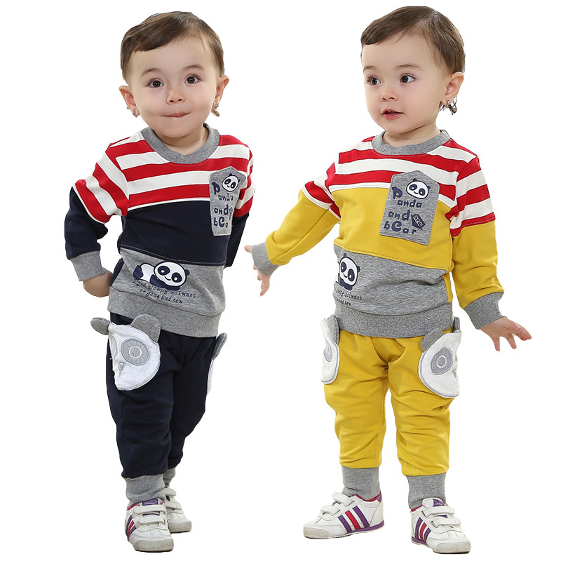 Anlencool Free shipping spring children's Winnie the two color suit Personalized baby clothing suit baby boy clothes