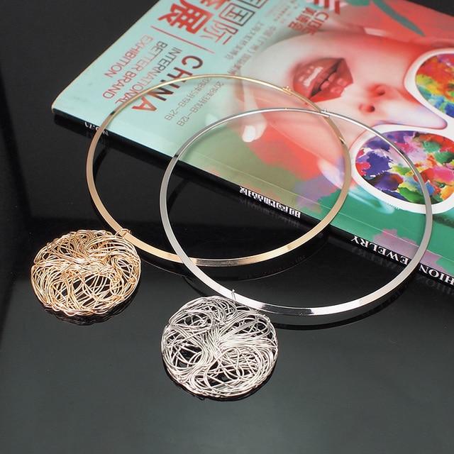 Big Metal Wire Necklaces 4