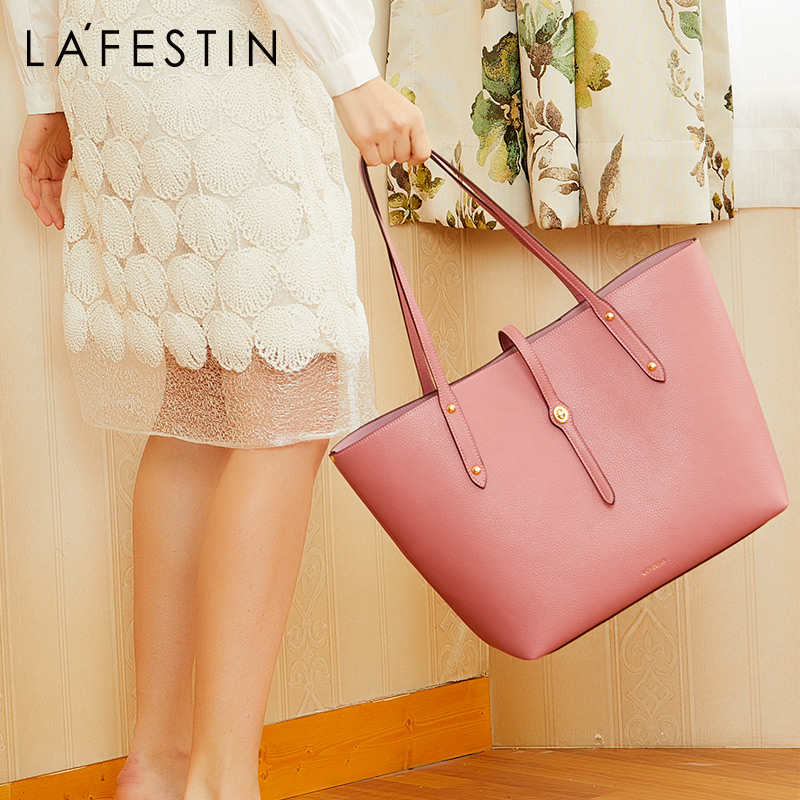 La festin Female bag 2019 new simple tote bag large capacity handbag ladies fashion shoulder bags-in Shoulder Bags from Luggage & Bags    1