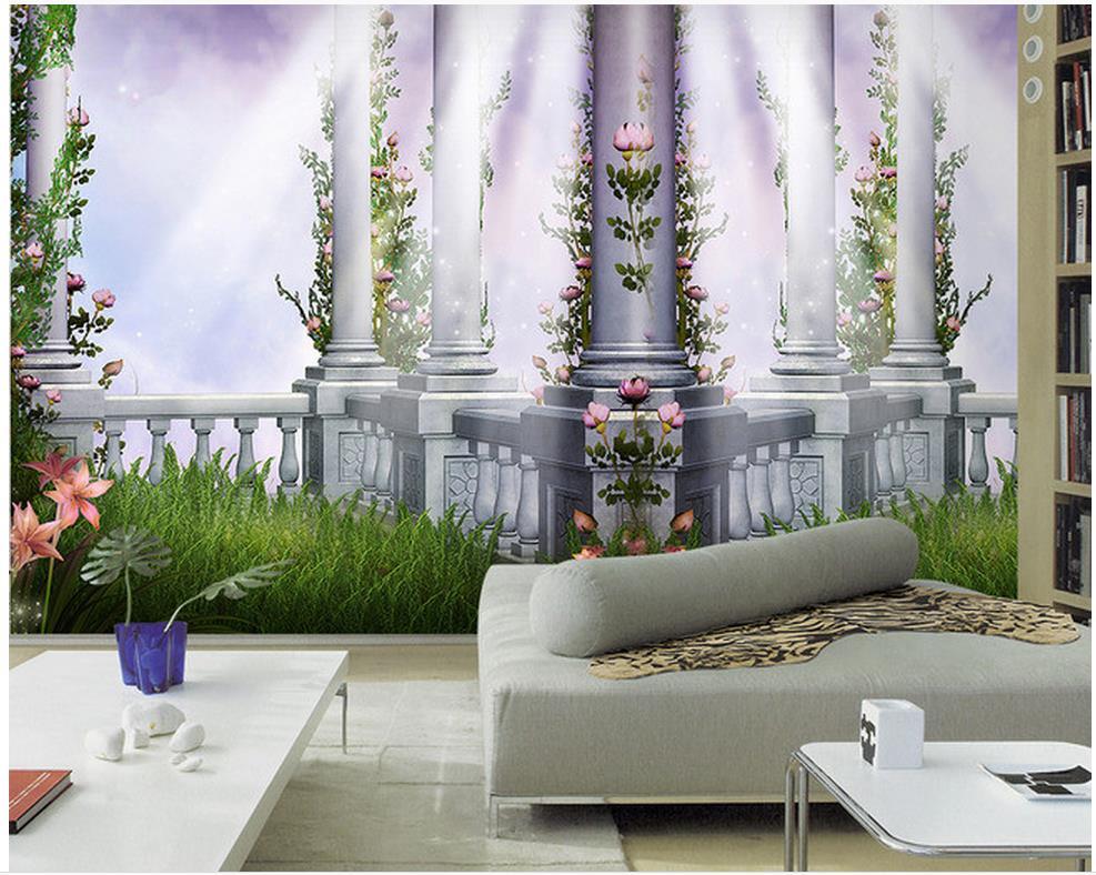 Woonkamer Vintage Bank : Europese stijl tuin van eden 3d woonkamer tv bank achtergrond
