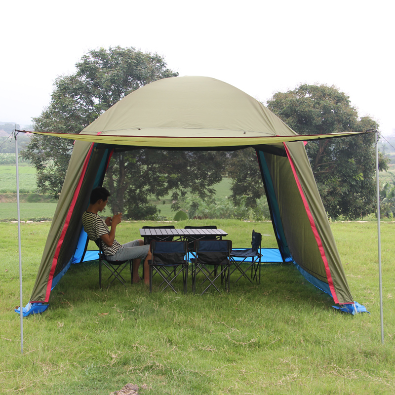 Outdoor recreation sun awning tent double canopy large c&ing Summer beach tent 6 persons waterproof folding gazebo for garden-in Tents from Sports ...  sc 1 st  AliExpress.com & Outdoor recreation sun awning tent double canopy large camping ...
