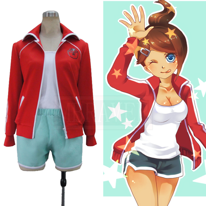 Danganronpa Dangan Ronpa Aoi Asahina Girl Uniform Cosplay Costume Halloween Cute