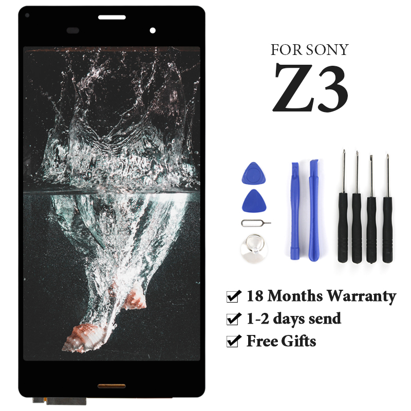 AAA++ For <font><b>Sony</b></font> Xperia <font><b>Z3</b></font> <font><b>D6603</b></font> D6633 D6653 D6683 LCD Touch Screen Black White Gold Display Digitizer Assembly Parts With Gifts image