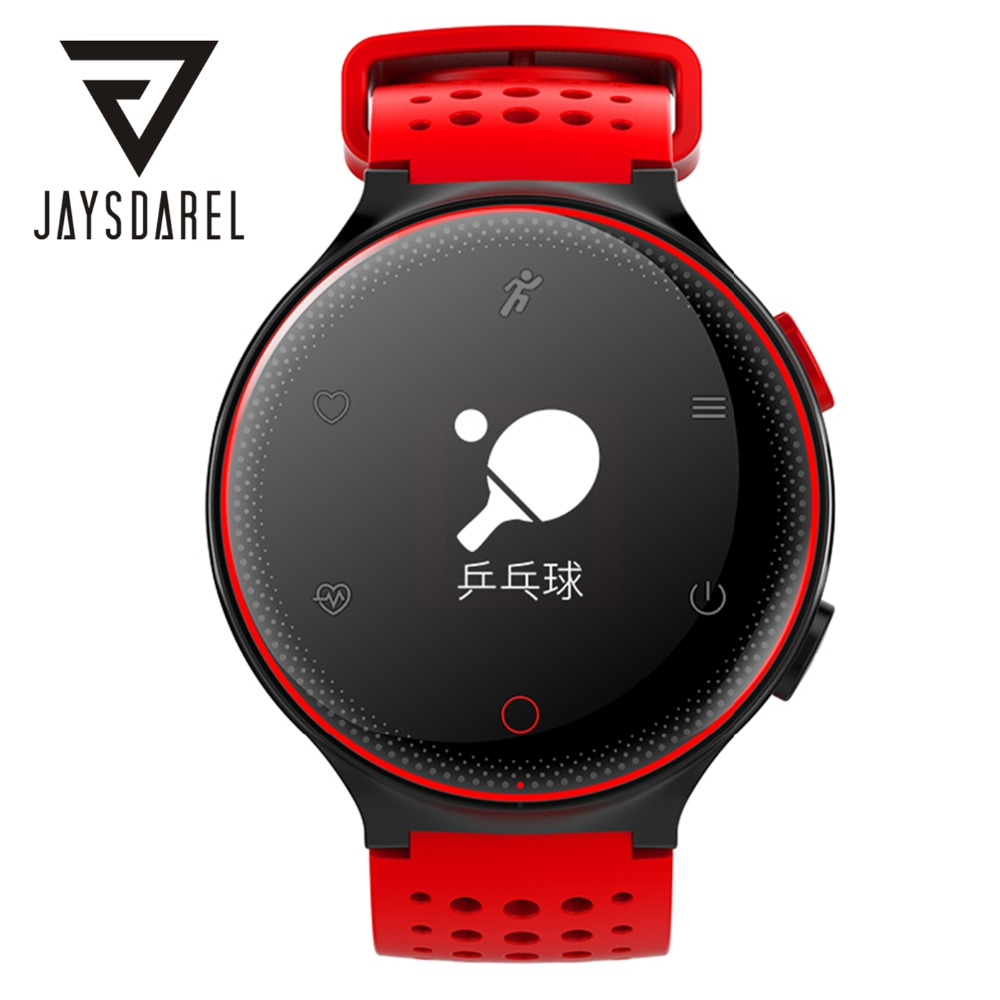 JAYSDAREL X2 Blood Pressure Heart Rate Monitor Smart Watch OLED IP68 Waterproof Pedometer Smart Bracelet for Android iOS home care laser light therapy instrument wrist watch type reduce high blood pressure