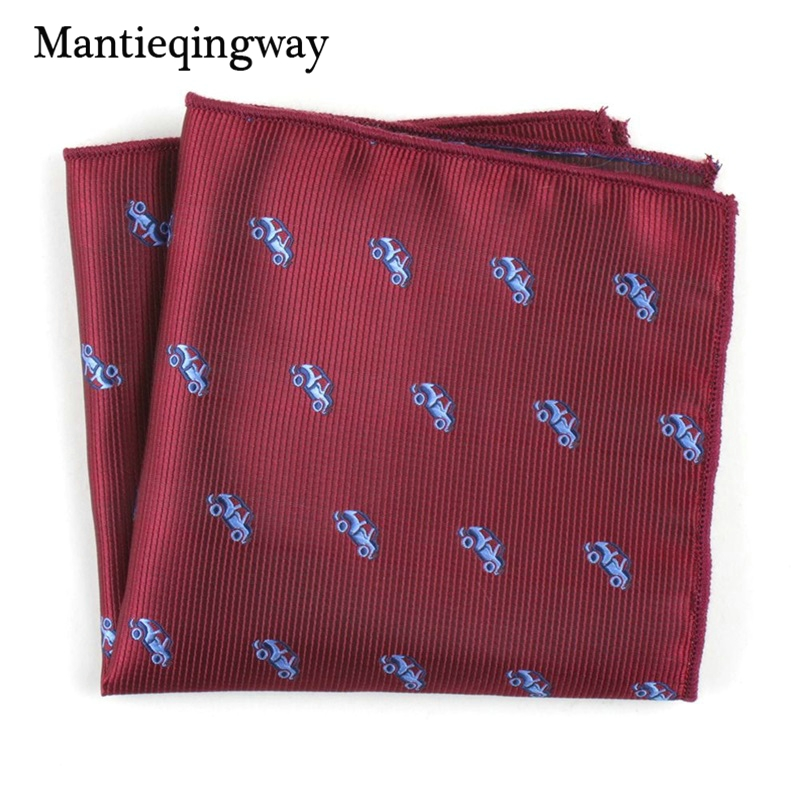 Cartoon Animals Floral Printed Handkerchiefs For Men's Suit Polyester Yarn Pocket Square Wedding Chest Towel Hanky