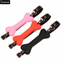 Adult Games Leather 3 Colors Dog Bone Cosplay Erotic Toys Silicone Ball Gag Open Mouth Gag Sex Toy Slave Gag For Couples