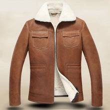 Men's leather jackets  Fur Male Sheepskin jacket Men's leather A jacket