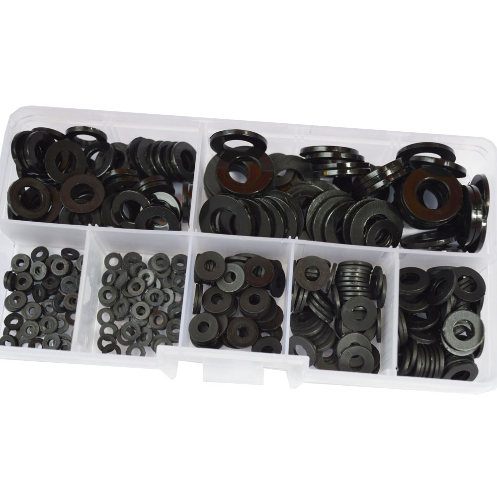 Black White Nylon Washer Spacer Seals Gasket Plastic Flat Ring Set Assortment Kit M2 M2 5 M3 M4 M5 M6 M8 in Washers from Home Improvement