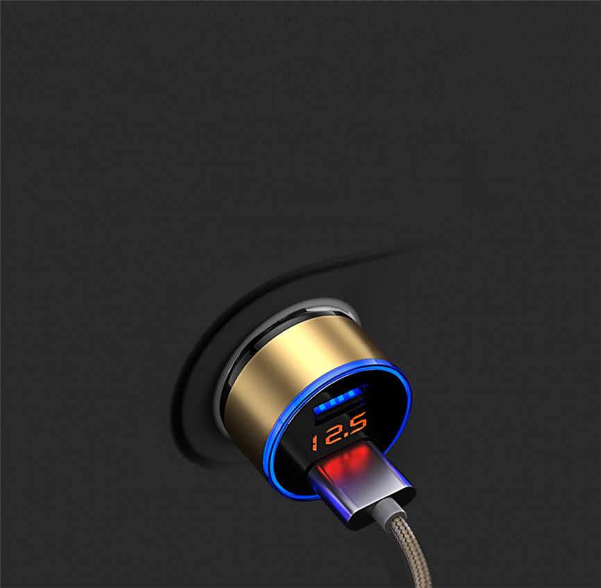 Car Charger 3.1A Dual USB Car Charger 2 Port LCD Display DC 12-24V Cigarette Socket Lighter 33*59mm Sep#2