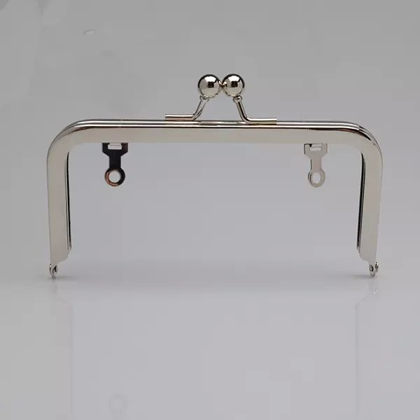 8x3 Inch Nickel Purse Frame with Drop Down Loops