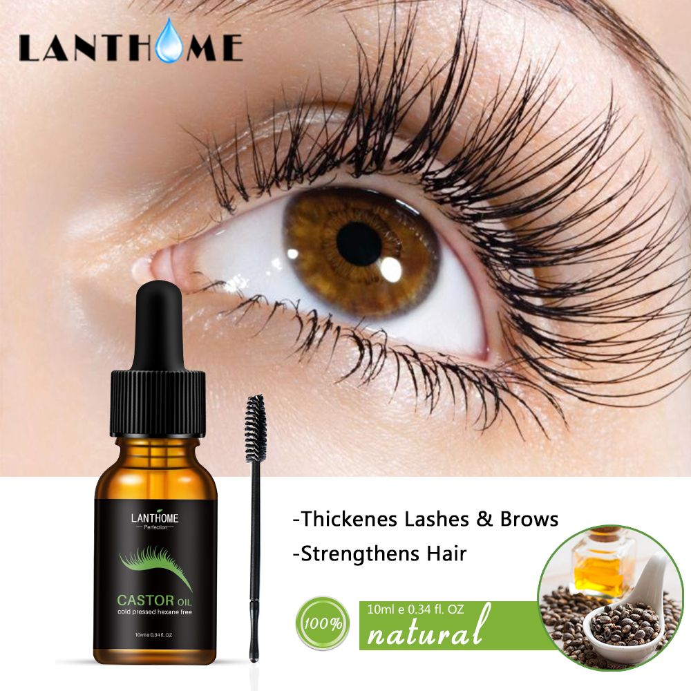 c4980860c4a Castor Oil Hair Growth Serum for Eyelash Growth Lifting Eyelashes Thick  Eyebrow Growth Enhancer Eye Lashes Serum Mascara 10ml