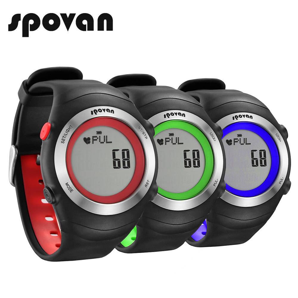SPOVAN Sport Watches for Men, Digital Watch for Women, Heart Rate Monitor/Waterproof SPV908 pedometer heart rate monitor calories counter led digital sports watch fitness for men women outdoor military wristwatches
