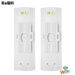 Image 3 - KuWFi Outdoor CPE Router Wifi Repetidor Wifi Extender 2 Pics Distanza di Trasmissione Fino A 3 KM di Velocità Fino A 300 mbps Wireless CPE