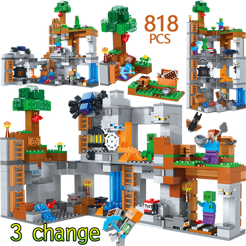 Toys & Hobbies Model Building My World Series Building Blocks Compatible Legoingly Minecrafted The Bedrock Adventures 21147 Educational Bricks Toys For Kids Providing Amenities For The People; Making Life Easier For The Population