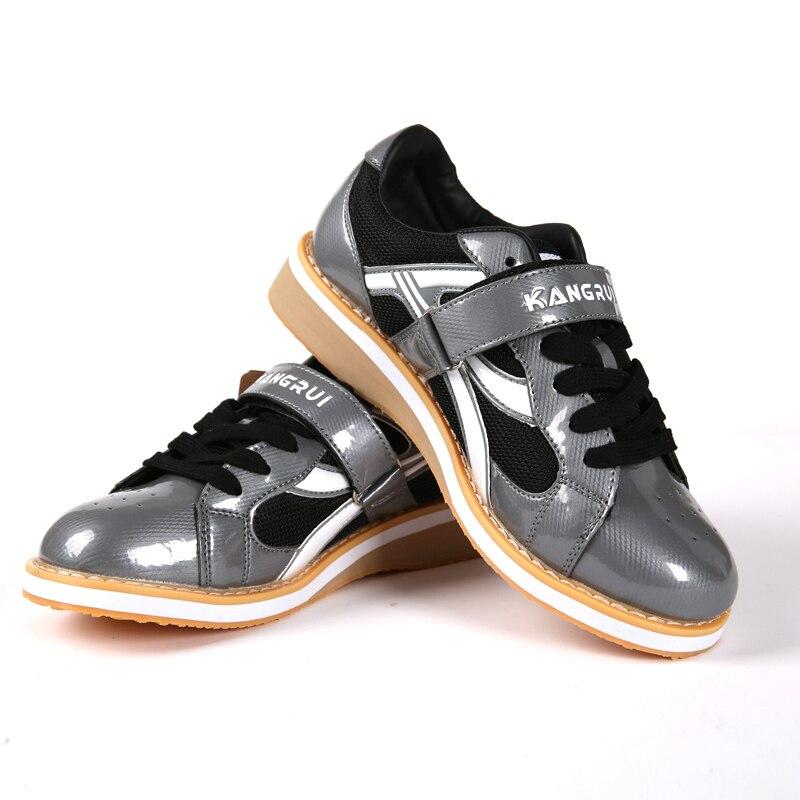 Professionnel Haltérophilie Chaussures Squat Formation En Cuir Antidérapant Poids de levage Chaussures