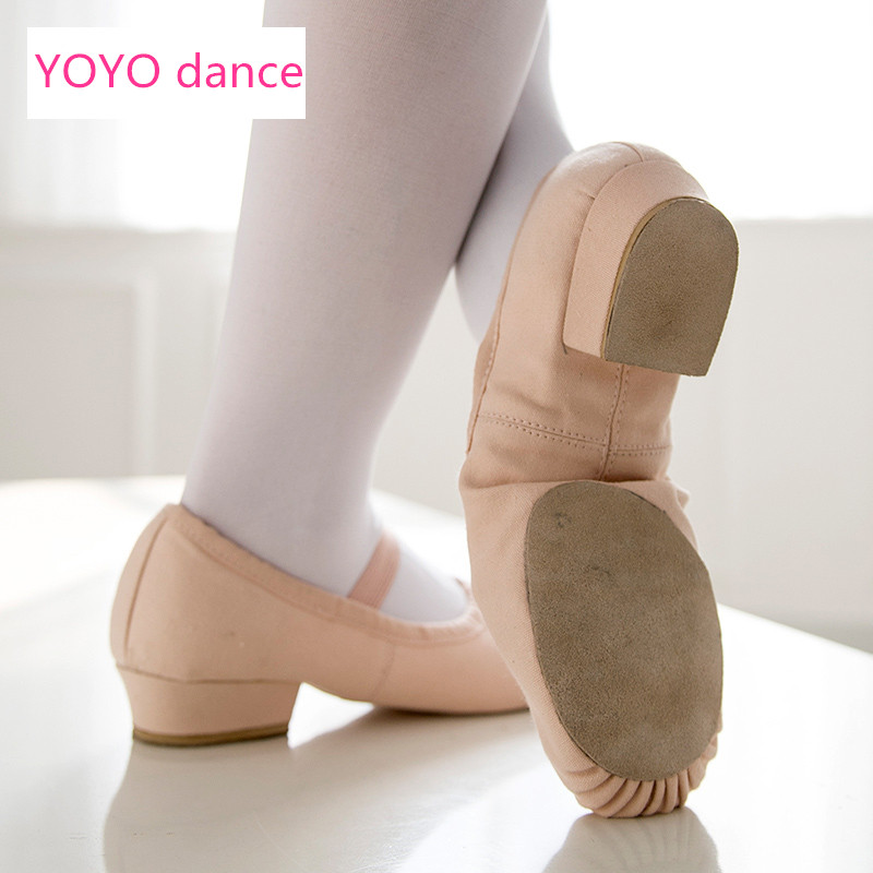 Professional Women Low Heel Ballet Shoes Dance Shose For Teacher Teaching Shoes canvas Single Strap Tango Dance Shoes 5312 ...
