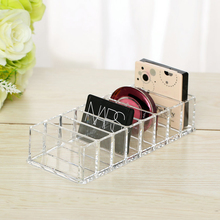 Fashion Clear Acrylic 8 Slots Cosmetic Organizer Powder Storage Box Household Women Makeup Tool Case Container