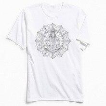Men T Shirts Latest O-Neck SHIVA MANDALA T-shirt Mens 100% Cotton Tees Male Tops TShirt Casual Short Sleeve TShirts Top Quality