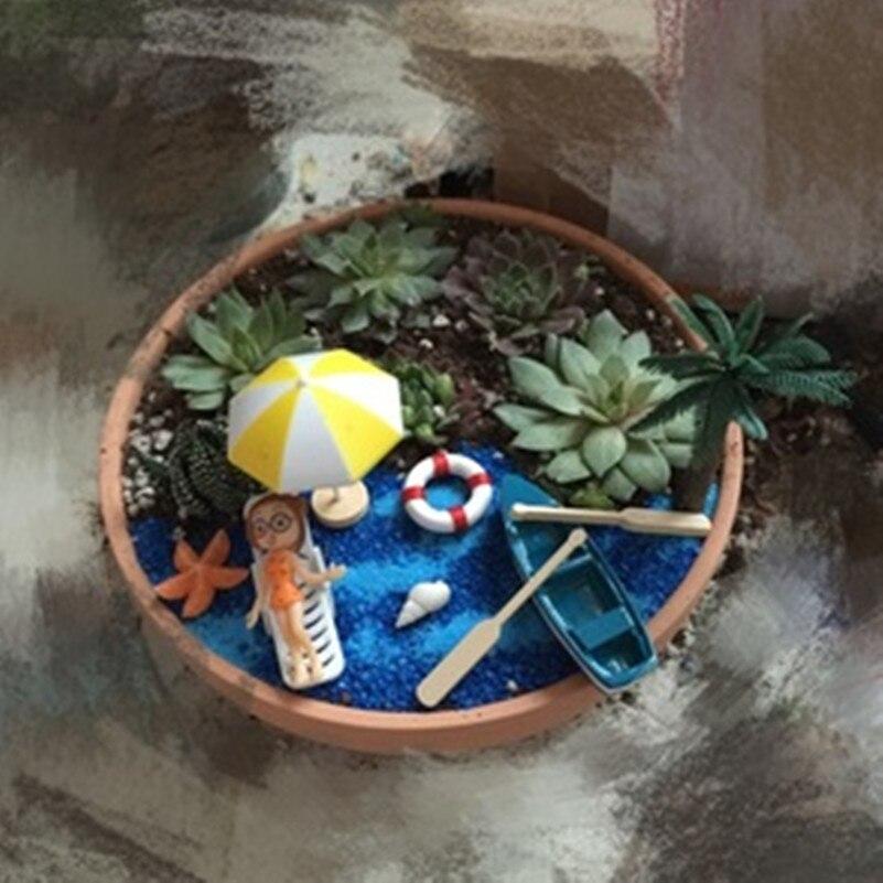 Genial Tanduzi 2PCS Micro Landscape Sea Sandy Beach Fairy Garden Miniature Beach  Chair White Plastic Figurine DIY Accessories In Figurines U0026 Miniatures From  Home ...