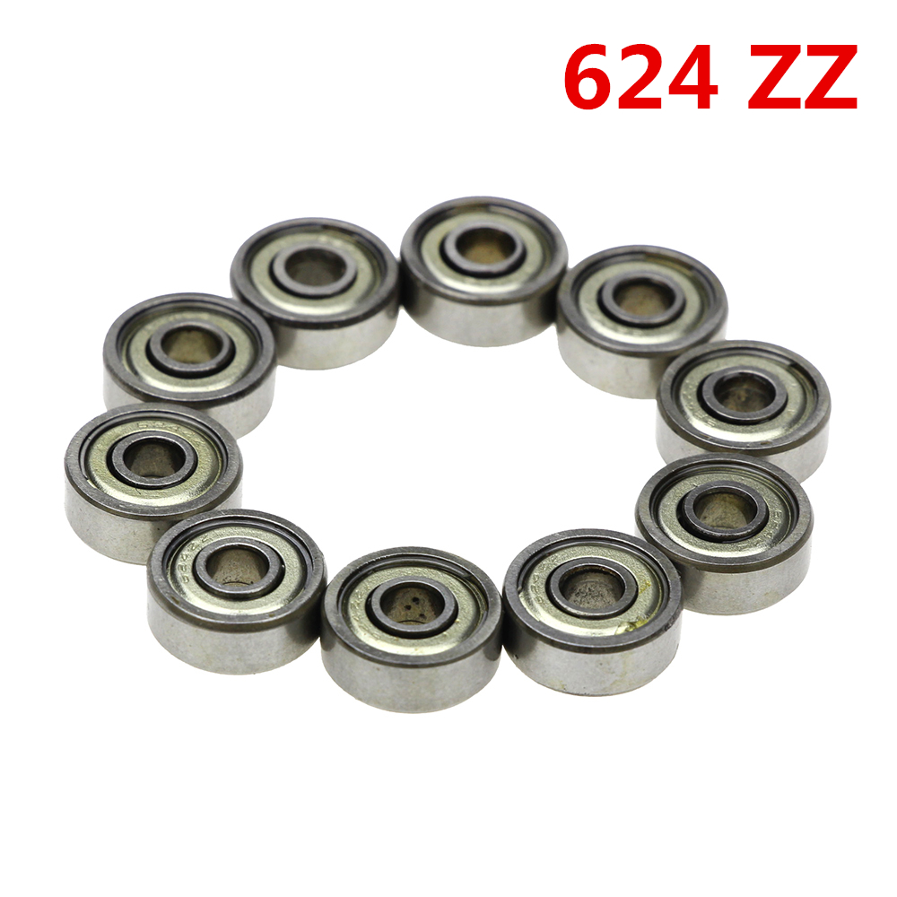 10pcs Double Shielded Miniature GCR15 Steel Single Row 624ZZ ABEC-5 Deep Groove Ball Bearing 4*13*5 4x13x5 mm 624 ZZ 6007rs 35mm x 62mm x 14mm deep groove single row sealed rolling bearing