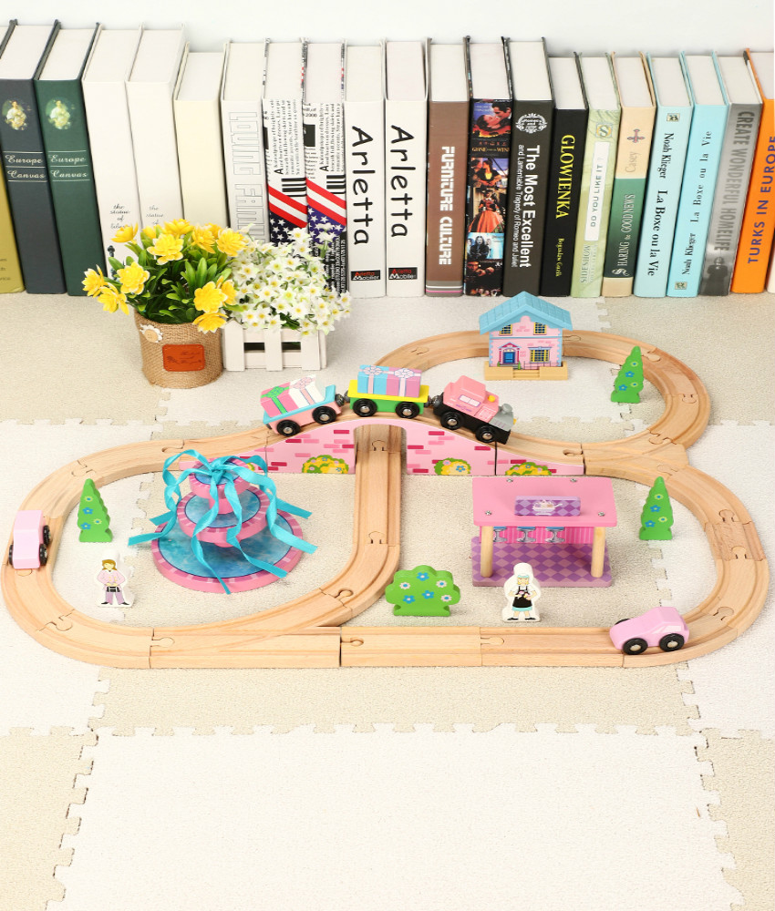 Pink Fountain Scene Set Gifts Children Compatible Wooden Thoma train Track Toy Compatible With Brio Train Tracks Childrens ToyPink Fountain Scene Set Gifts Children Compatible Wooden Thoma train Track Toy Compatible With Brio Train Tracks Childrens Toy