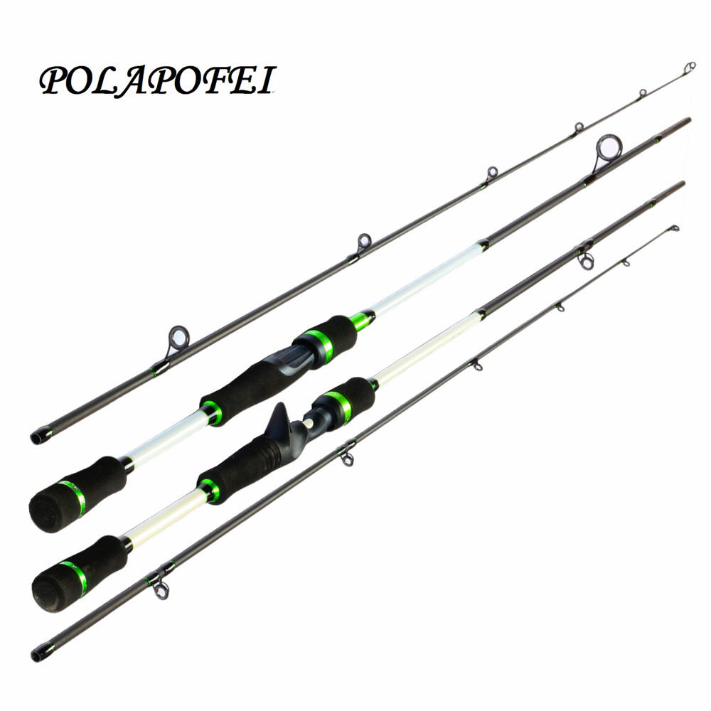 Carbon lure fishing rod spinning pole casting fishing for Casting fishing rod
