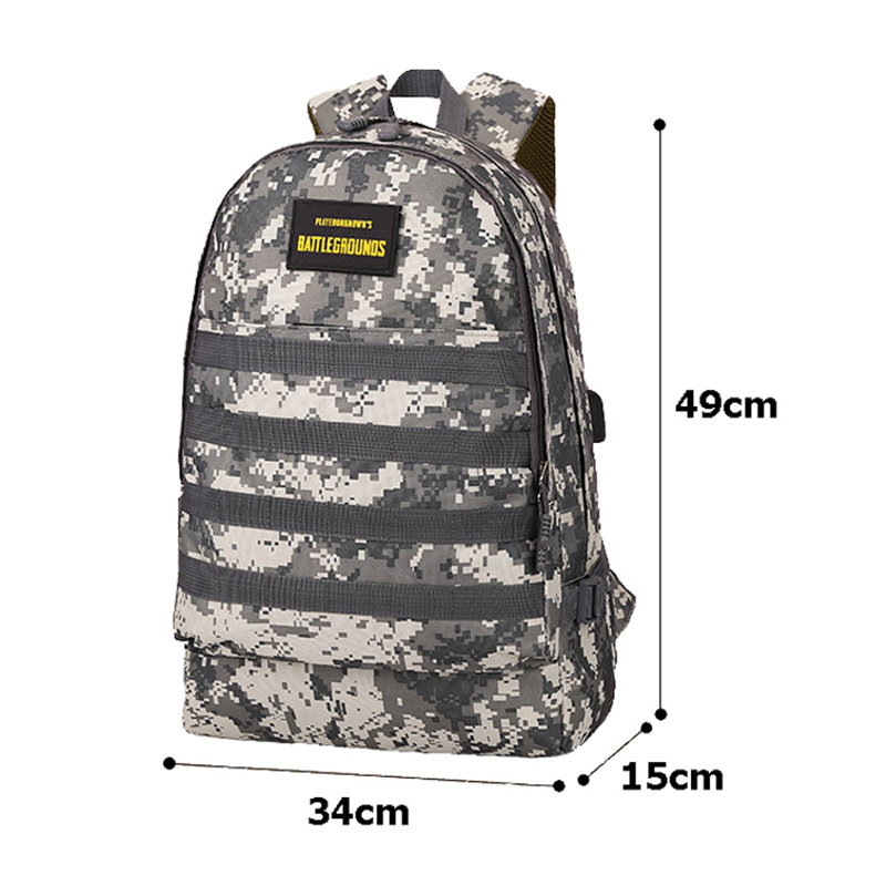 Men PUBG Backpack Multifunction Waterproof Teenage School USB Charging Backpacks Women Travel Level 3 Bag Boys Mochila BP0247 (15)