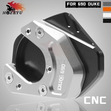 Motorcycle Accessories CNC Side Stand Enlarge Kickstand Extension Plate Pad CNC For KTM DUKE 690 duke690 2012 2013 2014 2016 цена