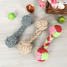 Pet Supplies Dog Toys Cotton Rope Dumbbell Toy For Small Medium Large Dogs Cleaning Tooth Puppy Training