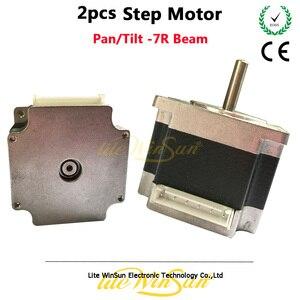 Image 1 - Litewinsune 2pcs Free Ship Step Motor XY Axis Pan Tilt Sharp Beam R7 230W Moving Head Lighting Accessory