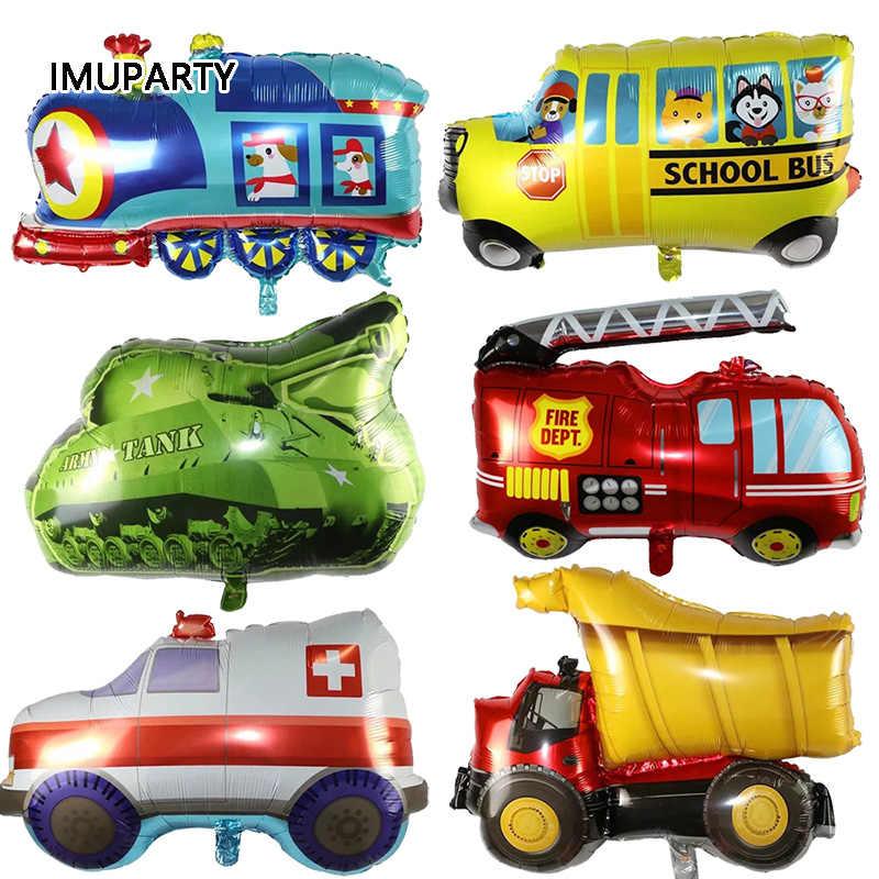 รถบรรทุกก่อสร้างวิศวกรรมรถยนต์ Disposable ชุดจานฟางตกแต่งเด็กเค้ก Decor