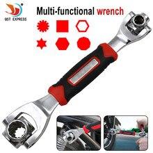 Clé 48 en 1 outils prise fonctionne avec des boulons cannelés Torx 360 degrés, 6 points universels de réparation de meubles de voiture 250mm