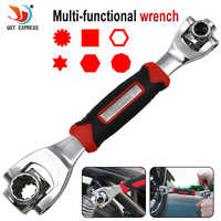 Wrench 48 in 1 Tools Socket Works with Spline Bolts Torx 360 Degree 6-Point Universial Furniture Car Repair 250mm