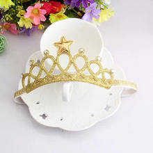 2017 New Cute Lovely Silver Gold Toddler Infant Baby Boy Girl Headband Birthday Crown Tiara Hair Band Accessory Headwear(China)