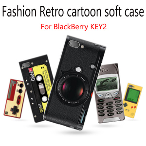 Dla BlackBerry KEY2 etui z miękkiego capas dla BlackBerry KEY 2 skrzynki pokrywa retro cartoon etui dla BlackBerry BBF100-4 tylna pokrywa powłoki