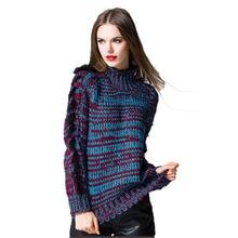 Turtleneck Autumn Winter Women's Sweaters Knitted Pullovers Female Warm Jumpers Long Sleeve knitwear Sweaters