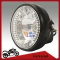 7 Inch Высокая Ближнего света H4 Передняя Фара Мотоцикла Chopper Кафе Racer 35 Вт Галогенная Лампа LED Глаза Ангела Света Сигнала Поворота лампы