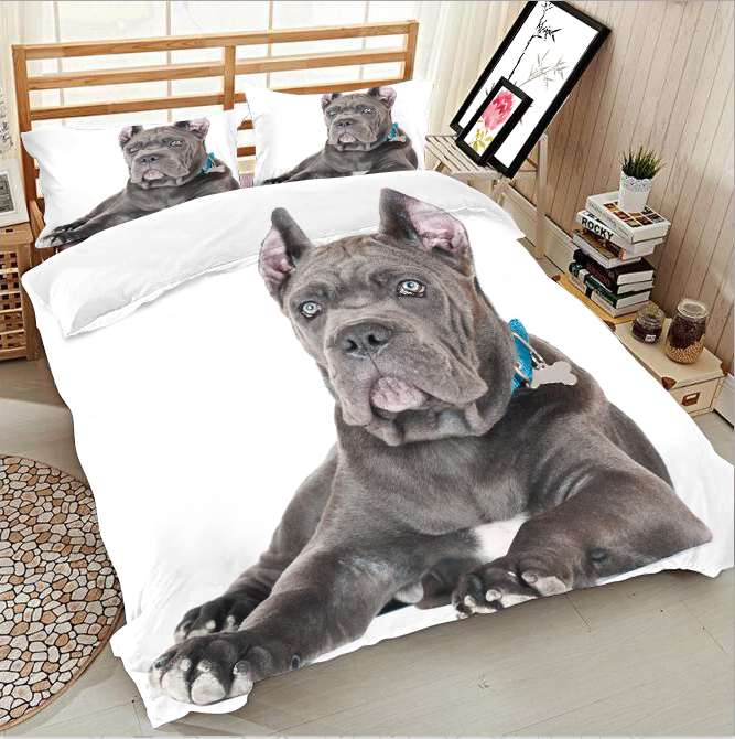 Dog Themed Pattern Printing Bedding Series Photos 3d Quilt Bed Linen