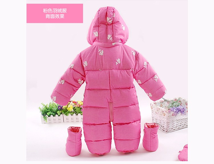 Abrigos Rusia Invierno Bebé Snowsuit Menina Mamelucos Abajo Bebes qwHazwCx