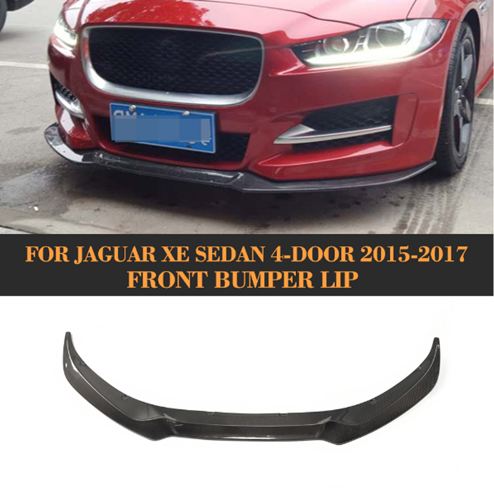 Kohlefaser Frontstoßstange Kinn Spoilerlippe für Jaguar XE Limousine 4 Tür 2015 2016...