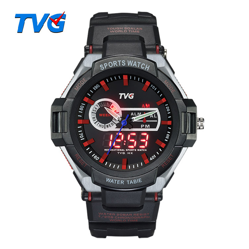 Children's Watches Trustful Mens Brand-name Mens Solar Alarm Digital Led 50m Watch Waterproof Mens Watch Dive Watch Military Analog Intelligence
