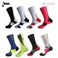 Alta qualidade Nova moda sólido de Alta Elástica de algodão tamanho grande toalha sox Profissional inferior na altura do joelho meias
