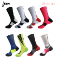 High quality New fashion solid  High Elastic cotton  big size sox Professional towel bottom knee  socks