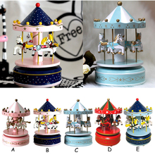 Bevigac Classic Horses Rotating Music Musical Box Castle in the Sky Melody Home Decoration Kid Children Birthday Gift Present
